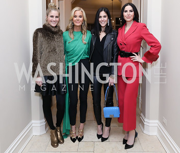 Ashley Bronczek, Susanna Quinn, Candace Ourisman, Amy Baier. Photo by Tony Powell. Celebration of Washington Power Women. Quinn Residence. December 17, 2018