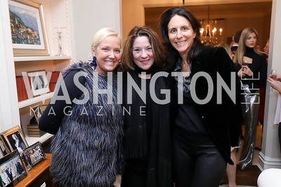 Mary Alberg, Kimball Stroud, Nicole Elkon. Photo by Tony Powell. Celebration of Washington Power Women. Quinn Residence. December 17, 2018