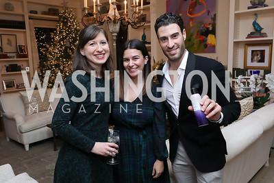 Katie Grant, Mariel Saez, Gio Vaccaro. Photo by Tony Powell. Celebration of Washington Power Women. Quinn Residence. December 17, 2018