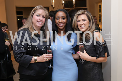 Caroline Cole, Abby Philip, Elaine Currie. Photo by Tony Powell. Celebration of Washington Power Women. Quinn Residence. December 17, 2018