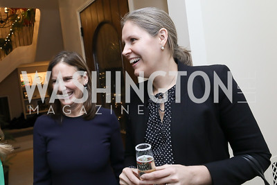 Sarah Morganthau, Kate Beale. Photo by Tony Powell. Celebration of Washington Power Women. Quinn Residence. December 17, 2018