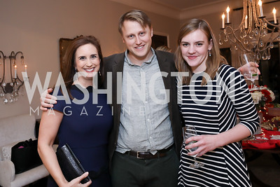 Betsy Fischer, Daniel Lippman, Alice Lloyd. Photo by Tony Powell. Celebration of Washington Power Women. Quinn Residence. December 17, 2018