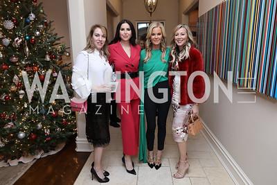 Estee Portnoy, Amy Baier, Susanna Quinn, Jean-Marie Fernandez. Photo by Tony Powell. Celebration of Washington Power Women. Quinn Residence. December 17, 2018