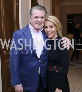 Jack Quinn, Dana Bash. Photo by Tony Powell. Celebration of Washington Power Women. Quinn Residence. December 17, 2018