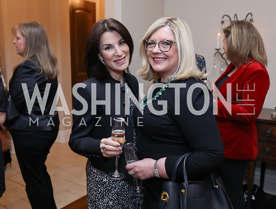 Tracy Bernstein, Gloria Dittus. Photo by Tony Powell. Celebration of Washington Power Women. Quinn Residence. December 17, 2018