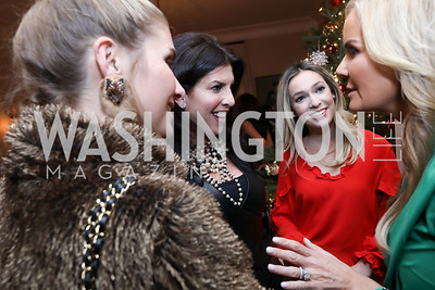 Ashley Bronczek, Lisa Spies, Letty Burgin, Susanna Quinn. Photo by Tony Powell. Celebration of Washington Power Women. Quinn Residence. December 17, 2018