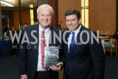 "Chris Matthews, Bret Baier. Photo by Tony Powell. Chris Matthews ""Bobby Kennedy"" Book Party. Kennedy Center. November 29, 2017"