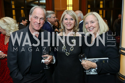 "David Sproul, Kathleen Matthews, Robin Sproul. Photo by Tony Powell. Chris Matthews ""Bobby Kennedy"" Book Party. Kennedy Center. November 29, 2017"