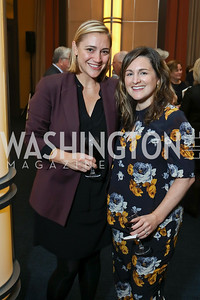 "Tina Urbanski, Michelle Perry. Photo by Tony Powell. Chris Matthews ""Bobby Kennedy"" Book Party. Kennedy Center. November 29, 2017"