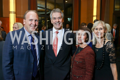 """Kevin Sullivan, Sir Peter and Susie Westmacott, Willee Lewis. Photo by Tony Powell. Chris Matthews """"Bobby Kennedy"""" Book Party. Kennedy Center. November 29, 2017"""