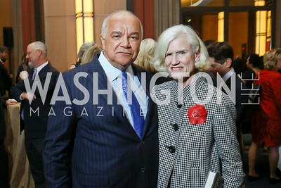 "Hampton Pearson, Caroline Croft. Photo by Tony Powell. Chris Matthews ""Bobby Kennedy"" Book Party. Kennedy Center. November 29, 2017"