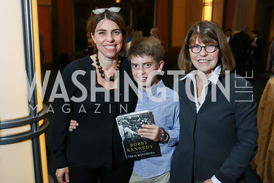 "Courtney Carlson, Ben Yarkin, Margaret Carlson. Photo by Tony Powell. Chris Matthews ""Bobby Kennedy"" Book Party. Kennedy Center. November 29, 2017"