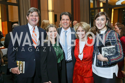 "William Kennedy Smith, Jeanne and Mark Shriver, Kathleen Kennedy Townsend, Anne Smith. Photo by Tony Powell. Chris Matthews ""Bobby Kennedy"" Book Party. Kennedy Center. November 29, 2017"