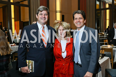 "William Kennedy Smith, Kathleen Kennedy Townsend, Mark Shriver. Photo by Tony Powell. Chris Matthews ""Bobby Kennedy"" Book Party. Kennedy Center. November 29, 2017"