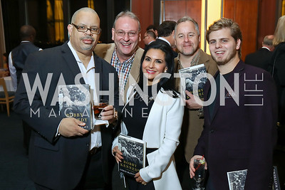 "Derbin Cabell, Gary Lynn, Rose Procopio Barondess, Tim Cote, Joey Shalhoup. Photo by Tony Powell. Chris Matthews ""Bobby Kennedy"" Book Party. Kennedy Center. November 29, 2017"
