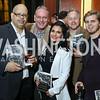 "Derbin Cabell, Gary Lynn, Rose Procopio Barondess, Tim Cote, Joey Shalhoup. Photo by Tony Powell. Chris Matthews ""Bobby Kennedy"" Book Party. Kennedy Center. November 29, 2017"