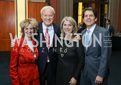 "Kathleen Kennedy Townsend, Chris Matthews, Kathleen Matthews, Mark Shriver. Photo by Tony Powell. Chris Matthews ""Bobby Kennedy"" Book Party. Kennedy Center. November 29, 2017"