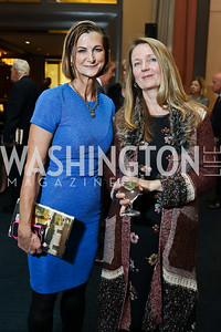"Anne Gearan, Welmoed Laanstra. Photo by Tony Powell. Chris Matthews ""Bobby Kennedy"" Book Party. Kennedy Center. November 29, 2017"