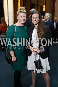 "Jacklin Rhoads, Cassie McNamara. Photo by Tony Powell. Chris Matthews ""Bobby Kennedy"" Book Party. Kennedy Center. November 29, 2017"