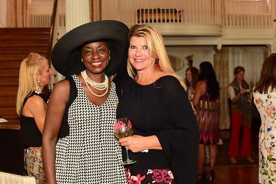 Rynthia Rost and Host Sharon Virts, Cocktails at Selma Mansion, June 7, 2018, Nancy Milburn Kleck