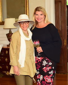Middleburg Film Festival Founder Sheila Johnson and Host Sharon Virts, Cocktails at Selma Mansion, June 7, 2018, Nancy Milburn Kleck
