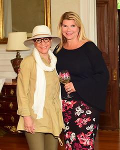 Middleburg Film Festival Founder Sheila Johnson and Host Sharon Virts, Cocktails at Selma Mansion, June 7, 2018, Nancy Milburn Kleck