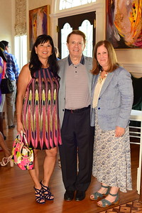 Tina and Gary Mather, Middleburg Film Festival Exec. Director Susan Koch, Cocktails at Selma Mansion, June 7, 2018, Nancy Milburn Kleck