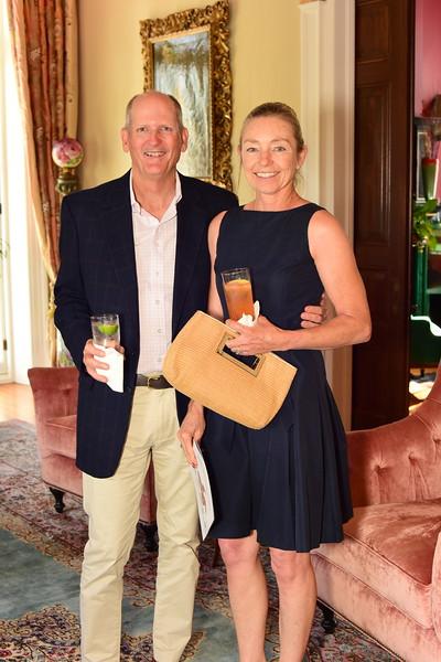 Steve and Donna Ford, Cocktails at Selma Mansion, June 7, 2018, Nancy Milburn Kleck