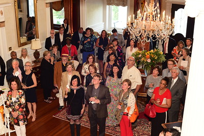 Guests at Cocktails at Selma Mansion, June 7, 2018, Nancy Milburn Kleck
