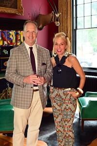 Page Gravely and Nichole Backus, Cocktails at Selma Mansion, June 7, 2018, Nancy Milburn Kleck
