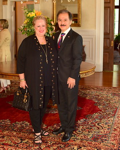 Maranda and Yong Kim, Cocktails at Selma Mansion, June 7, 2018, Nancy Milburn Kleck