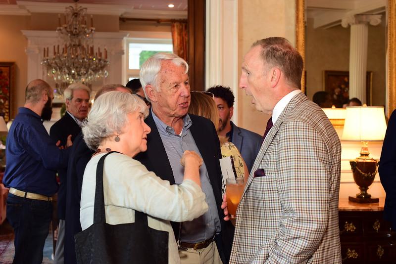 Guests at Cocktails at Selma Mansion, June 7, 2018, Nancy Milburn Kleck