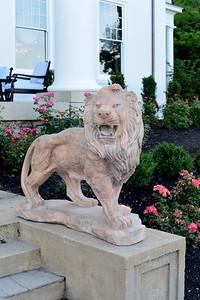 Lion of Selma Mansion, Cocktails at Selma Mansion, June 7, 2018, Nancy Milburn Kleck