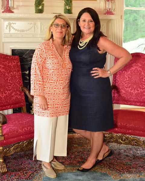 Christy Hertel and Lisa Thompson, Cocktails at Selma Mansion, June 7, 2018, Nancy Milburn Kleck