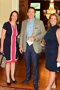 Suzy Quinn, Steve and Liz Frederickson, Cocktails at Selma Mansion, June 7, 2018, Nancy Milburn Kleck