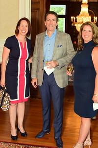 Suzy Quinn, Steve and Liz Frederickson, Cocktails at Selma Mansion, June 7, 2018, Nancy Milburn Kleck