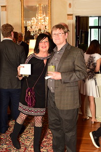 Julie Huber and Jim Small, Cocktails at Selma Mansion, June 7, 2018, Nancy Milburn Kleck
