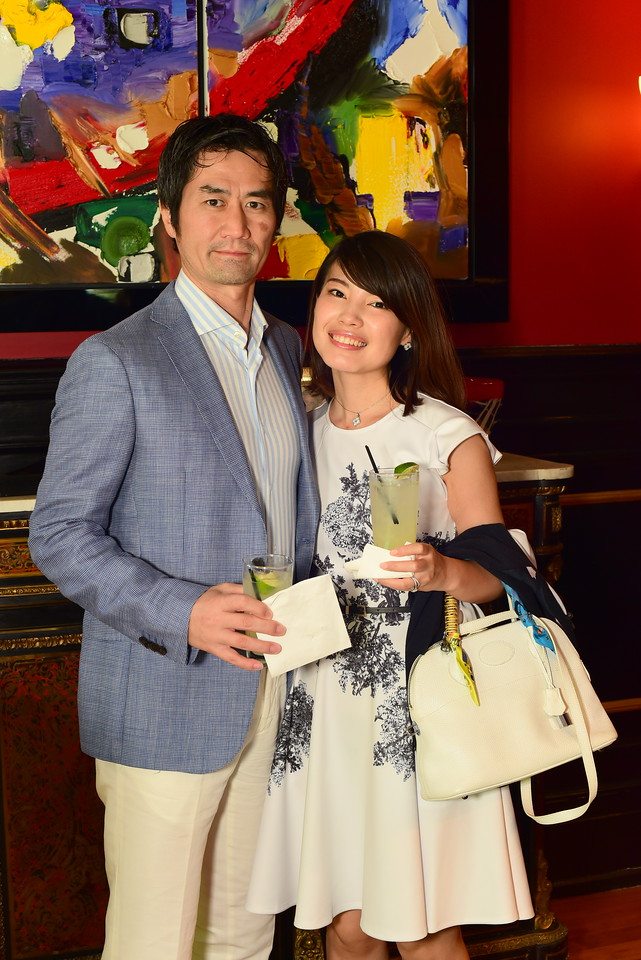 Takashi and Yongrong Sato, Cocktails at Selma Mansion, June 7, 2018, Nancy Milburn Kleck