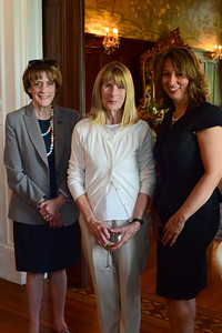 Kelly Burk, Debbie Piland, Lorna Magill, Cocktails at Selma Mansion, June 7, 2018, Nancy Milburn Kleck