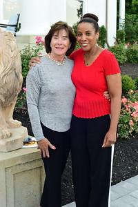 Ann Rust and Phyllis Randall, Cocktails at Selma Mansion, June 7, 2018, Nancy Milburn Kleck