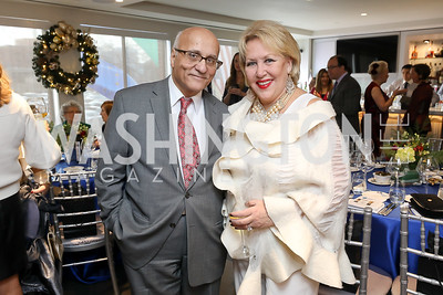 Rafik and Marsha Muawwad. Photo by Tony Powell. 2018 Colorectal Brunch. Cafe Milano. December 10, 2018