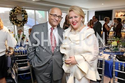 Rafik and Marsha Muawwad. Photo by Tony Powell. 2018 Colorectal Brunch. Cafe Milano. December 10, 2018