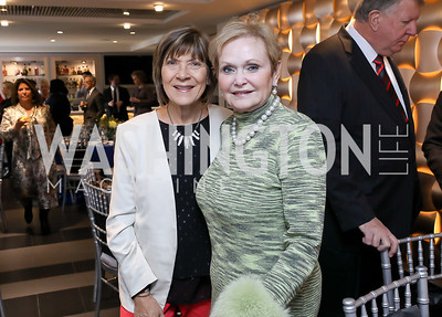 Cathy Reilly, Donna Ritter. Photo by Tony Powell. 2018 Colorectal Brunch. Cafe Milano. December 10, 2018