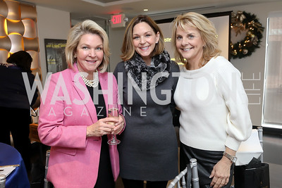 Michela Gorham, Kathryn Jones, Sheila Stabile. Photo by Tony Powell. 2018 Colorectal Brunch. Cafe Milano. December 10, 2018