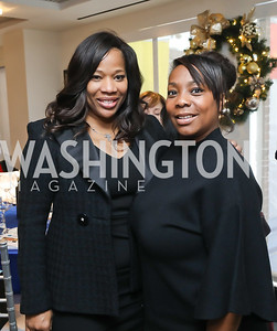 Charrisse Jackson-Jordan, Runaka Anderson. Photo by Tony Powell. 2018 Colorectal Brunch. Cafe Milano. December 10, 2018