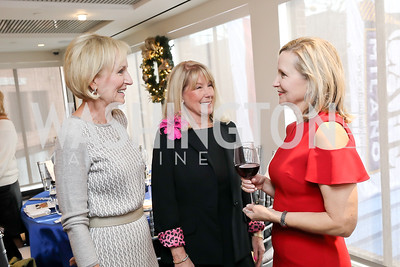 Susan Cowart, ML Murray, Nan Moring. Photo by Tony Powell. 2018 Colorectal Brunch. Cafe Milano. December 10, 2018