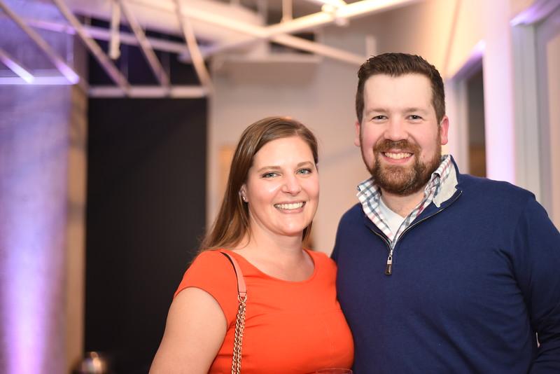 Emily Vuono, Kyle Geoffrion. Compass Real Estate Arlington Opening. February 22, 2018. Amanda Warden.