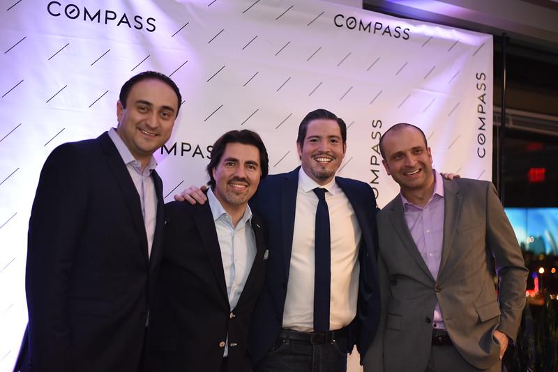 Camilo Bermudez, Andre Perez, Sebastian Martinez, Paul Gonzalez. Compass Real Estate Arlington Opening. February 22, 2018. Amanda Warden.