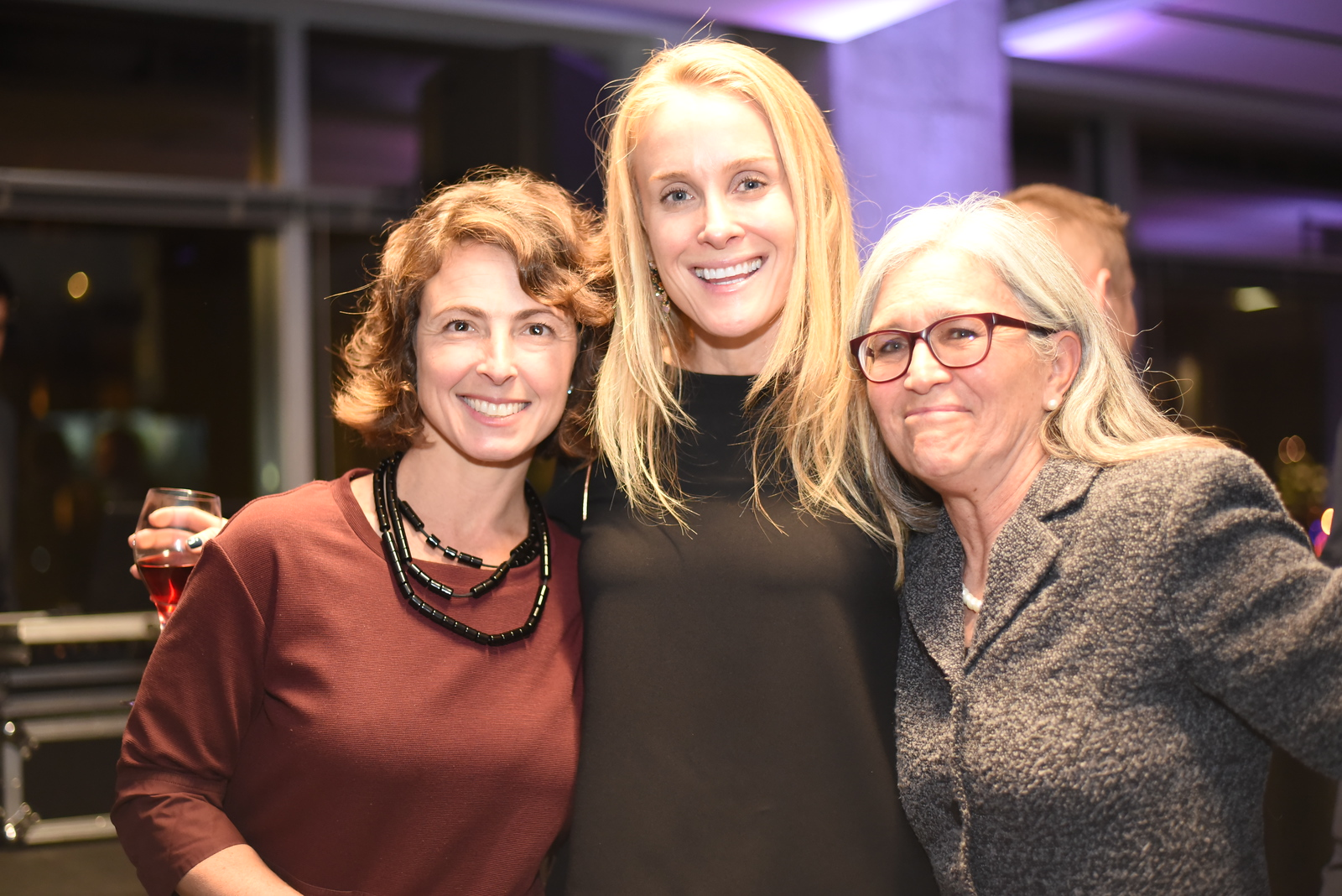 Meredith Margolis, Shari Gronvall, Jeanne Harrison. Compass Real Estate Arlington Opening. February 22, 2018. Amanda Warden.