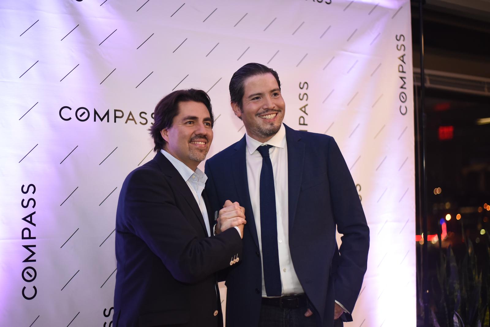 Andre Perez, Sebastian Martinez. Compass Real Estate Arlington Opening. February 22, 2018. Amanda Warden.
